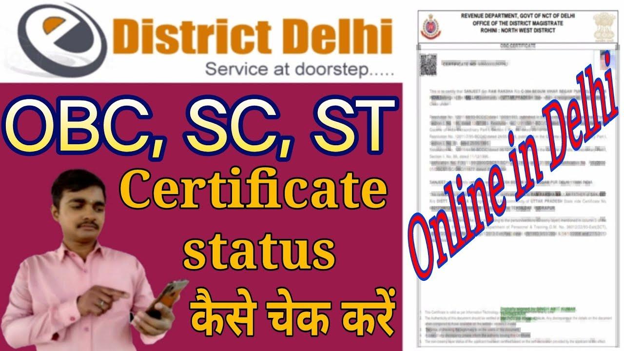 How to Check Caste Certificate Status in Delhi | caste certificate status  kaise check Karen