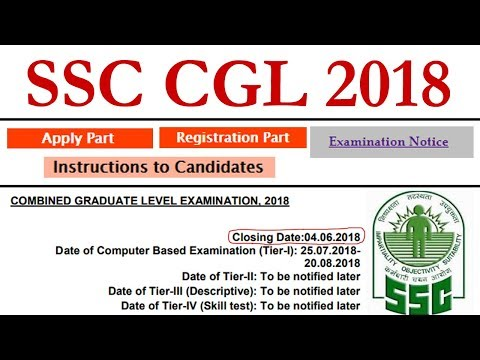 SSC CGL 2018 Notification Application Form Online Registration Exam Date Syllabus Pattern Vacancies