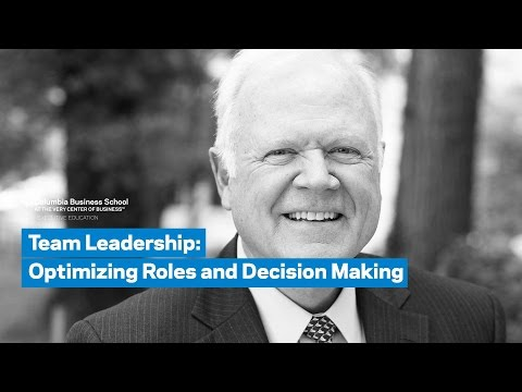 Team Leadership: Optimizing Roles and Decision Making