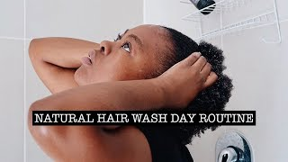 WASH DAY ROUTINE ON TYPE 4 HAIR | NATURAL HAIR