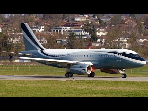 Most Beautiful Airbus A319 Take-Off at Bern !!!