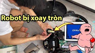 Robot hút bụi bị xoay tròn: nguyên nhân cách sửa chữa và phòng tránh