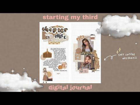 starting my third digital journal 🍀💫 digital journalling for android ♬♩♪
