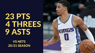 Tyrese Haliburton 23 Pts 4 Threes 9 Asts 5 Rebs 3 Stls Highlights vs Nets | NBA 20/21 Season