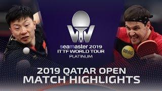 Timo Boll vs Ma Long   2019 ITTF Qatar Open Highlights (R16)