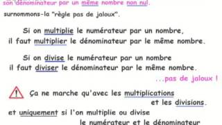 2de-Ch00-1 Règle fondamentale du calcul fractionnaire - On ne peut pas diviser par zéro