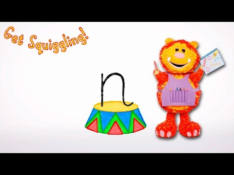 Get Squiggling Letters   Letter N