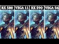 Ryzen 5 2400G | VEGA 11 vs RX 580 vs RX 590 vs VEGA 56 | Tetsed 13 Games |