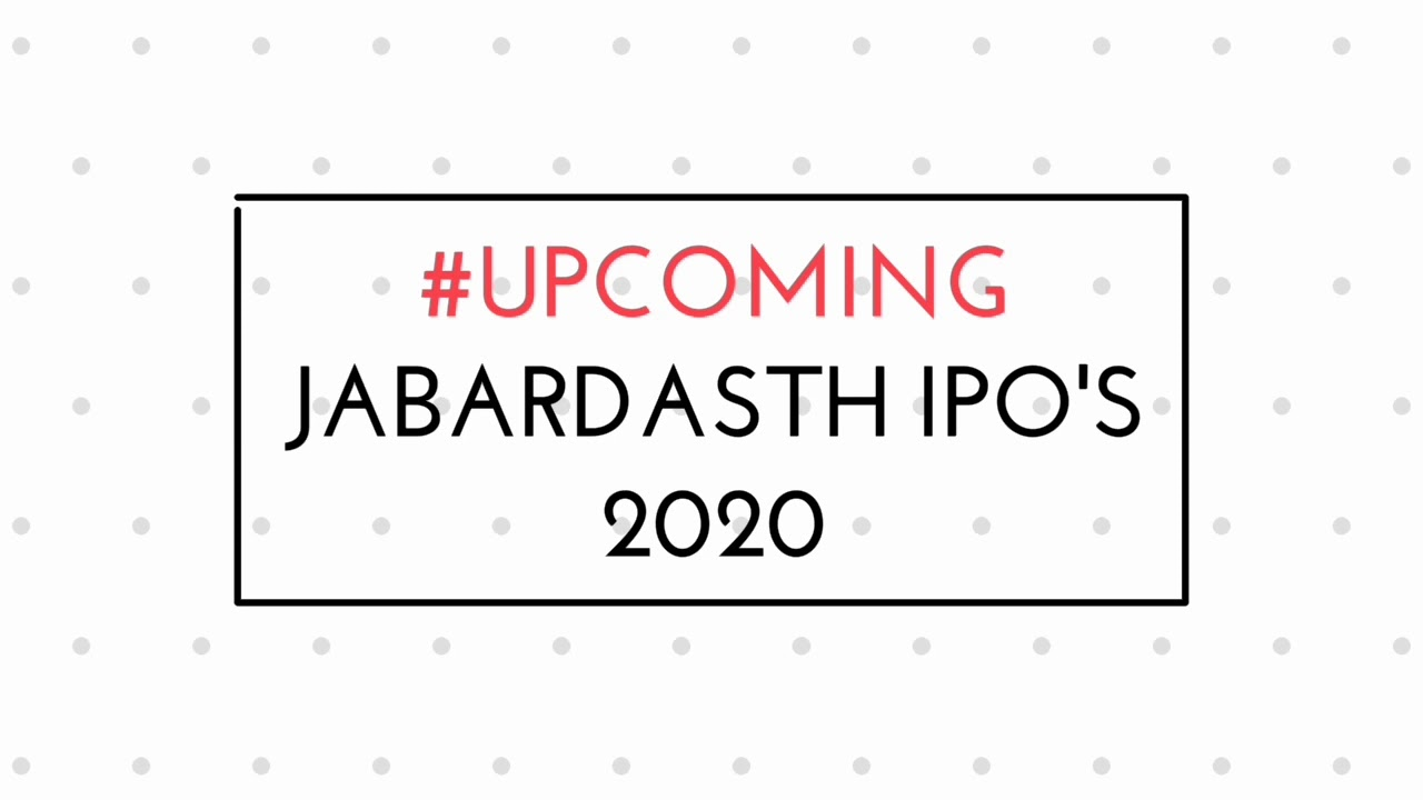 Upcoming big ipo 2020