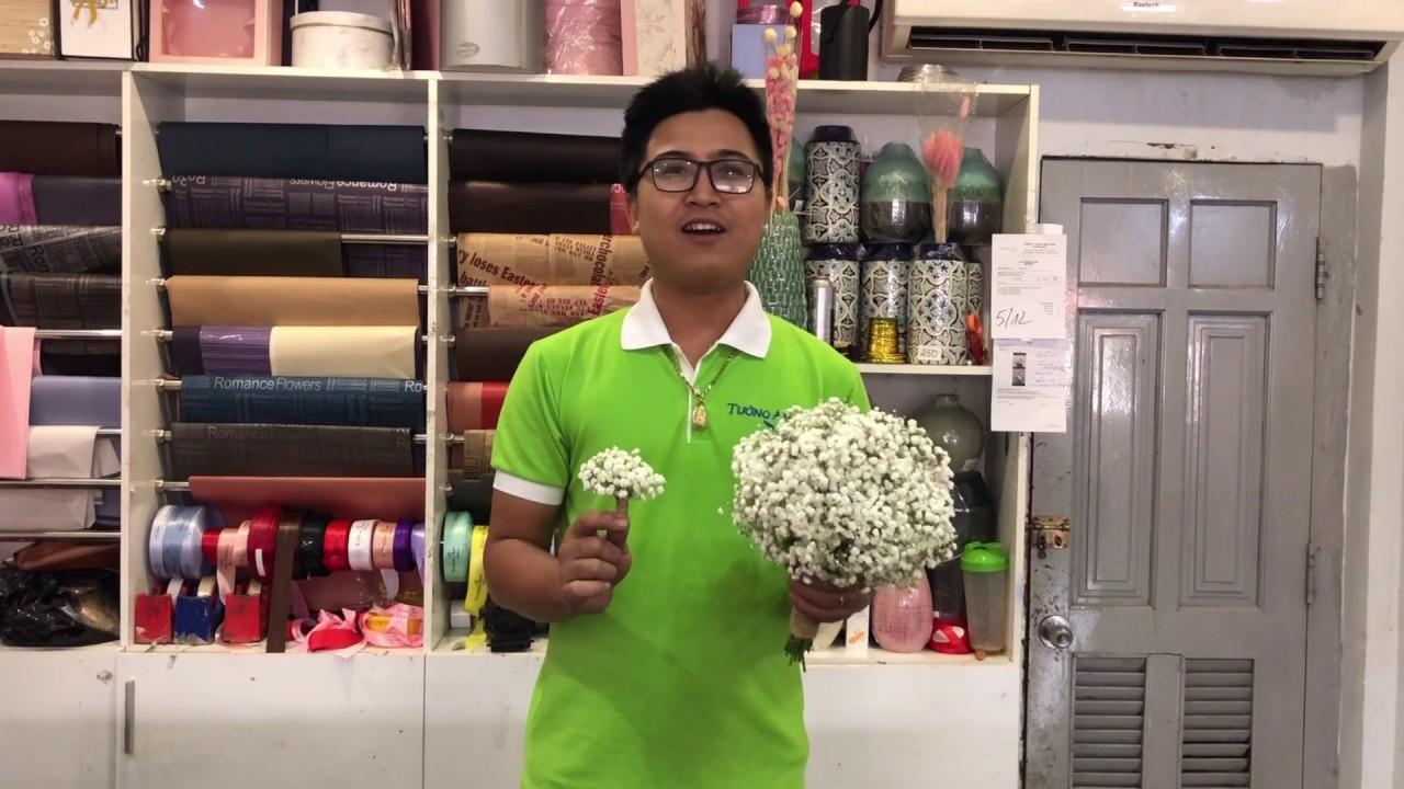 Hướng dẫn bó hoa cưới baby ( bi trắng ) | baby wedding bouquet | hoa tươi Tường An