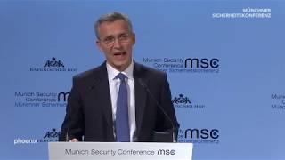 Auftritt von NATO-Generalsekretär Stoltenberg auf der Münchner Sicherheitskonferenz am 15.02.19