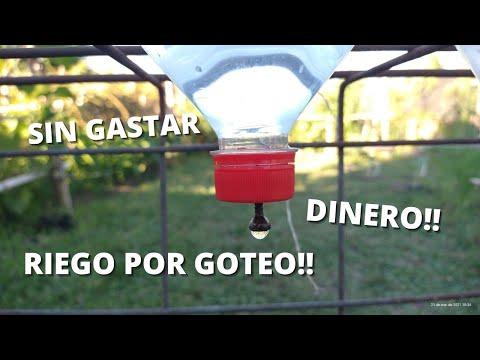 Como Hacer Un Riego Por Goteo Casero (SIN GASTAR DINERO!!)