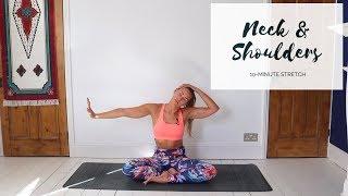 NECK & SHOULDER STRETCH   10-Minute Yoga   CAT MEFFAN