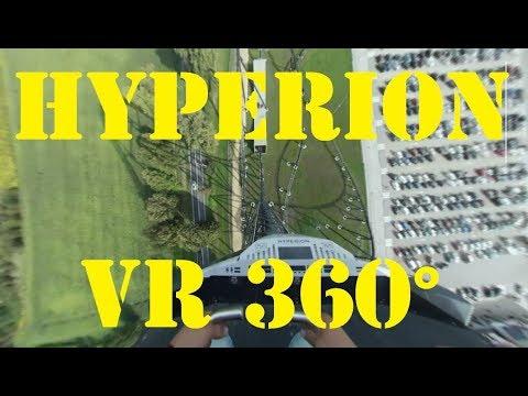 [ VR 360° ] Mega Coaster HYPERION EnergyLandia * pierwszy wagonik * VR front seat