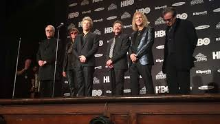 Bon Jovi band members went to the Rock & Roll Hall of Fame's press ...
