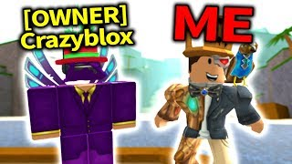 PLAYING WITH THE CREATOR OF FLOOD ESCAPE 2: Crazyblox!! (Roblox)