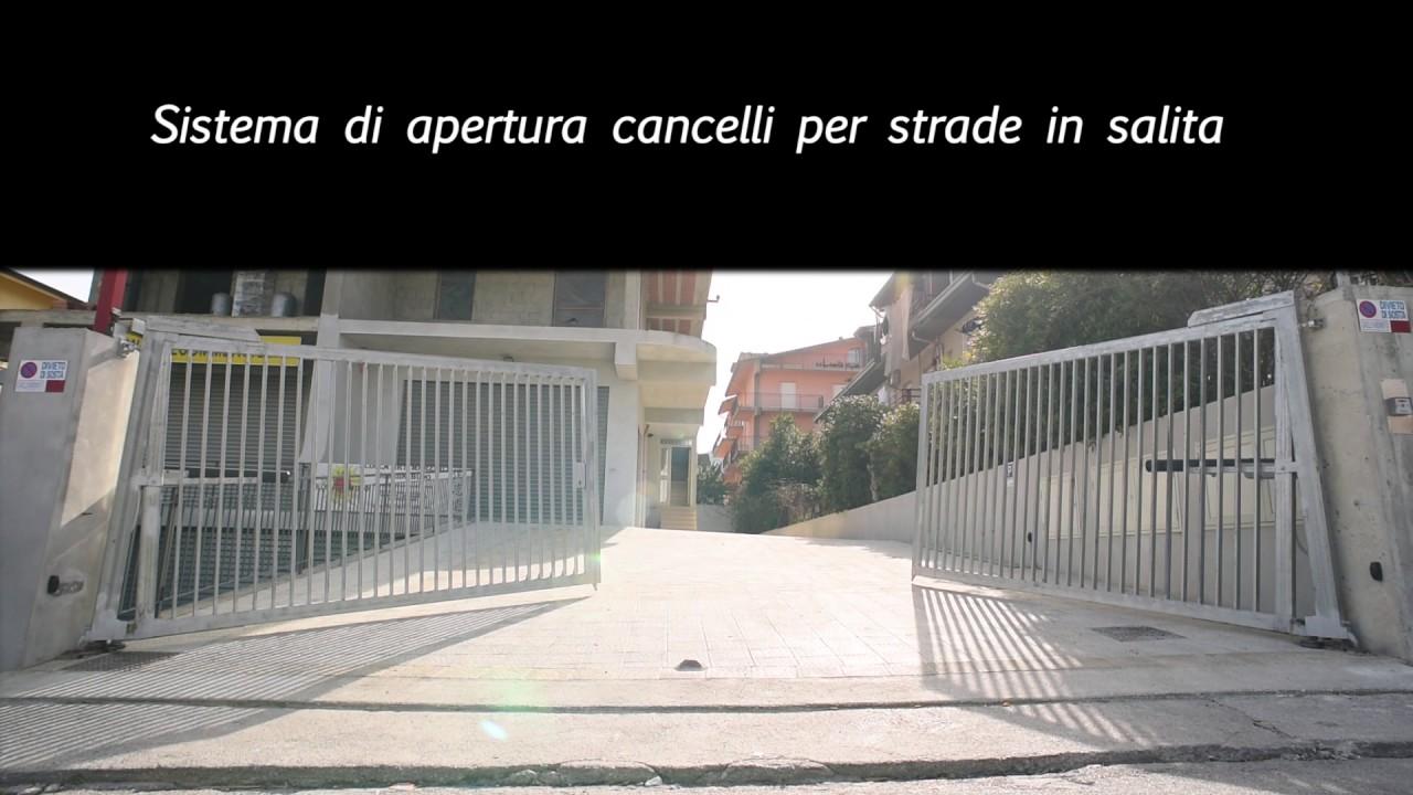 Fermo Per Cancello A Due Ante.Sistemi Di Automazione Cancelli Per Strada In Salita Automatic Gate To Climb Kit