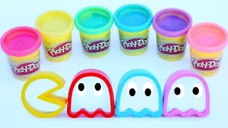 Sparkle Play Doh Pac Man Molds Glitter Playdough Modeling Compound Clay