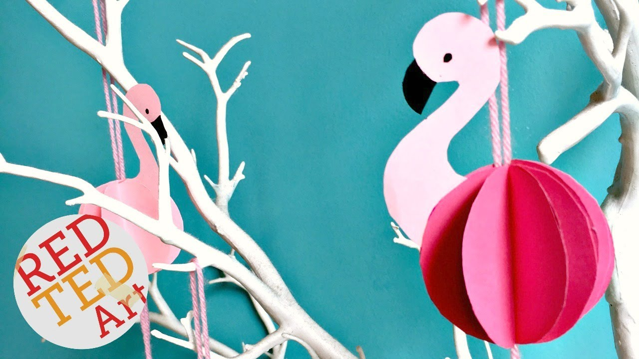 Flamingo PAPERCRAFT PDF Papercraft Flamingo paper Flamingo DIY ... | 720x1280
