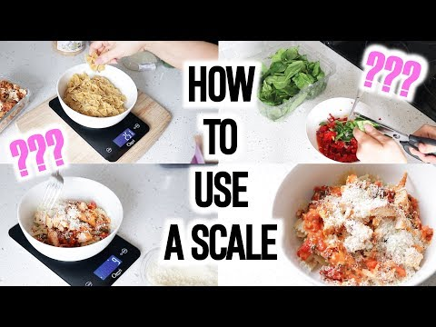 COOK WITH ME: PASTA RECIPE How To Use A Scale & Measure Calories!