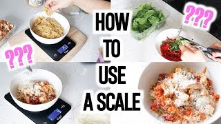 COOK WITH ME: PASTA RECIPE - How To Use A Scale & Measure Calories!