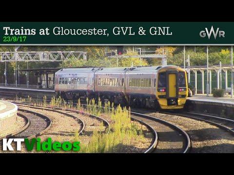 Trains at Gloucester, GNL + GVL - 23/9/17