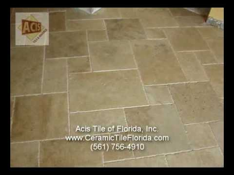 Diagonal Pattern - Installing Marble Travertine How To