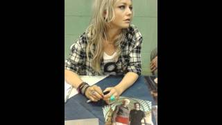 Hannah spearritt at wales comic con april 26th 201