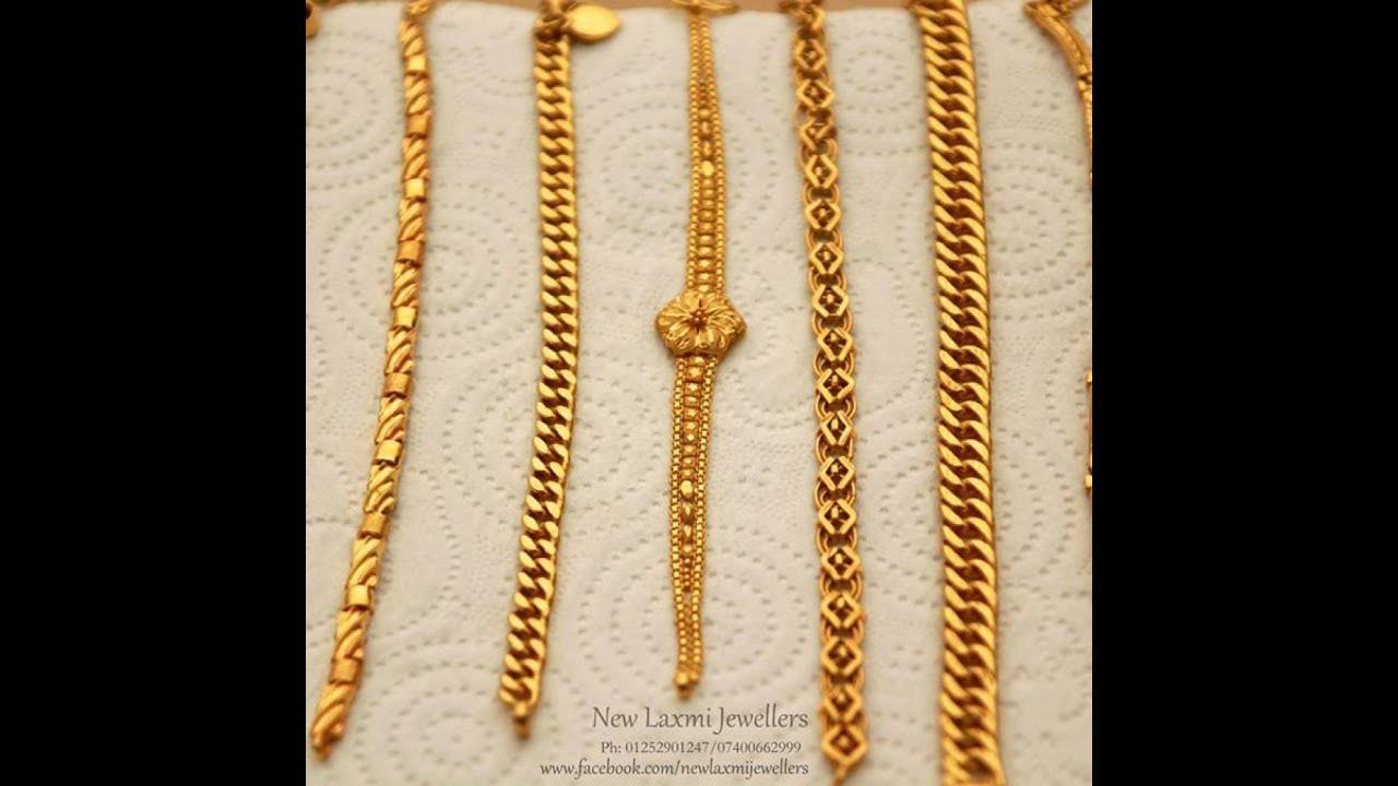 New Bracelet Designs in GOlD - YouTube