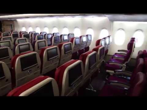 Inside Malaysia Airlines Airbus A380 Farnborough 2012