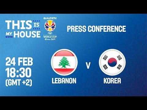 Lebanon v Korea - Press Conference - FIBA Basketball World Cup 2019 Asian Qualifiers