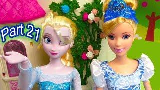 Disney Frozen Queen Elsa  Girl Talk Princess Cinderella Part 21 Barbie Dolls Series Video