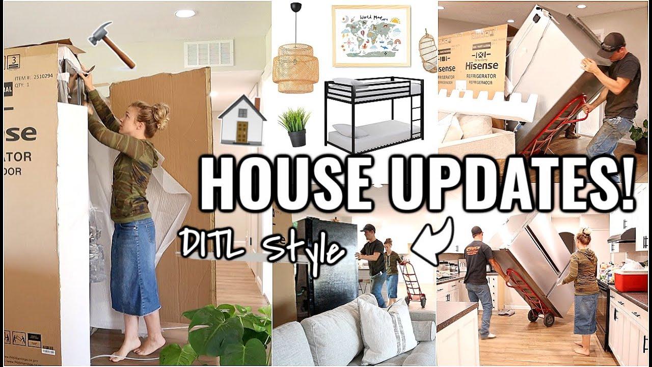 RENOVATION HOUSE UPDATES!!🏠 NEW FRIDGE INSTALL | DITL AT OUR ARIZONA FIXER UPPER