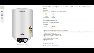 Crompton SWH 25LTR (2125) Arno Neo ASWH-2125 25-Litre Storage Water Heater