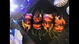 Перепела в беконе - вкусное блюдо к праздничному столу, Новый год 2018