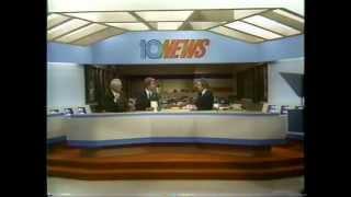 KGTV 10 news update & ad break 1983