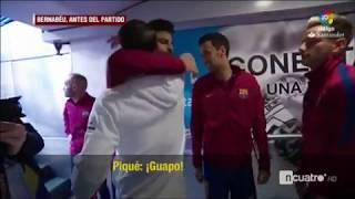 pique Hug  sergio ramos  respect moment  El Clasico 2017