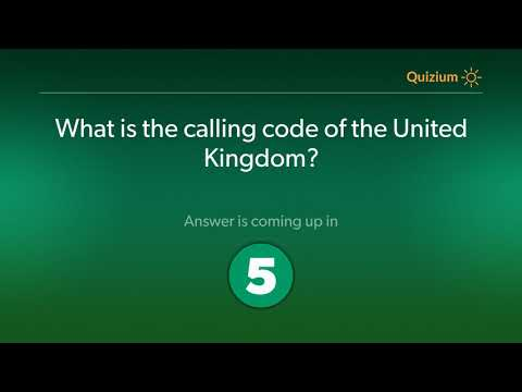 What Is The Calling Code Of The United Kingdom?   United Kingdom Quiz