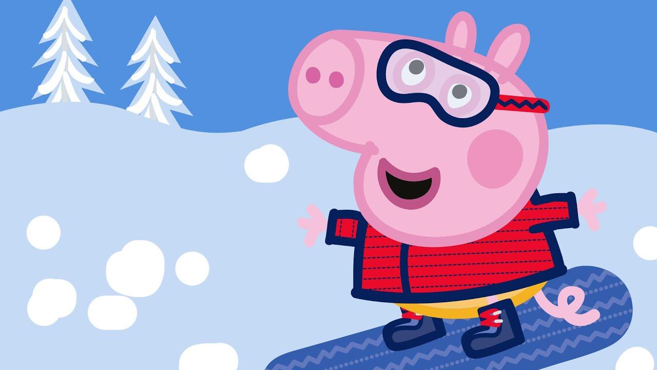 Peppa Pig Português Brasil | Dia de Neve | Desenhos Animados