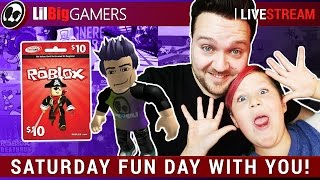 Saturday FUN Day w/Roblox Gift card GIVEAWAY! | Roblox: Random Games