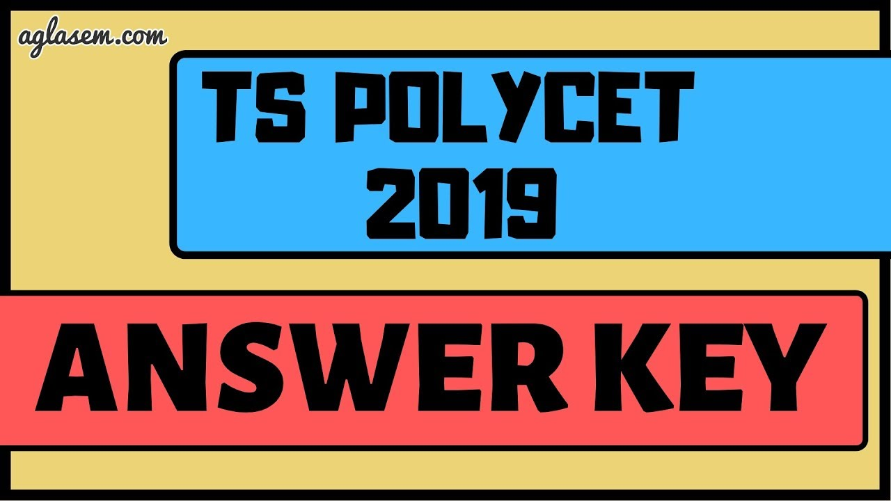 TS POLYCET Answer Key 2019 and Question Paper (Available) - Download