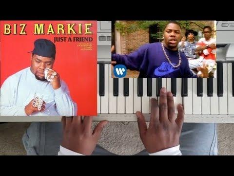 BIZ MARKIE - JUST A FRIEND (PIANO TUTORIAL) C Major