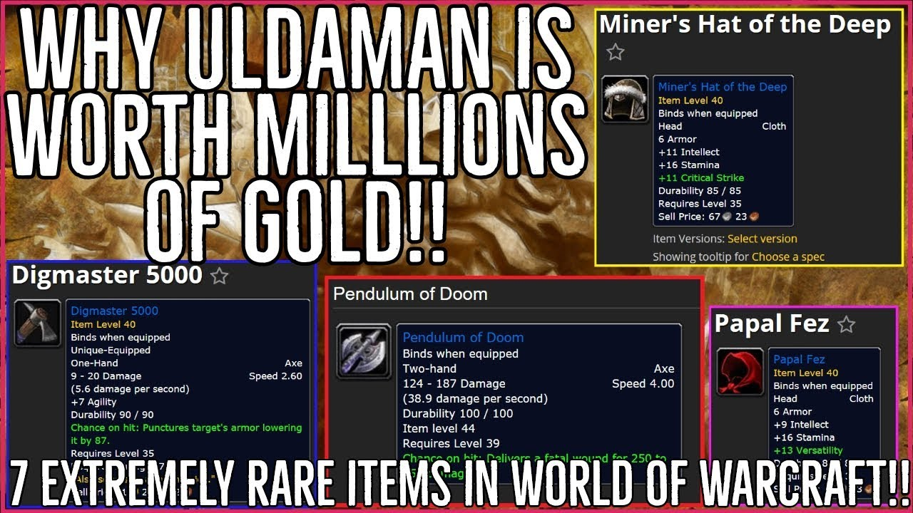 7fcedc2b974c 7 Extremely Rare Items in World of Warcraft