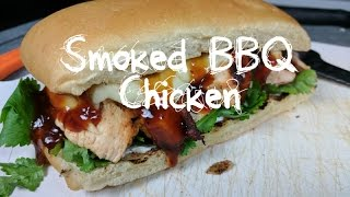 MothersBBQ | Smoked BBQ Chicken Sandwich in the Weber Kettle