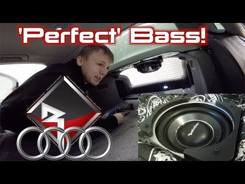Audi A4 Rockford Fosgate T1S1-10 Parcel Tray Subwoofer! | DONE