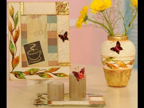 Lacas craquelado y foil marcos para cuadros vasijas for Espejos para pegar