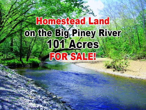 101 Acre Homestead Land for Sale on Big Piney River