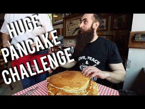 The BIG ONE Pancake Challenge @ Big Ed's in Raleigh, NC (Trip To NC Pt.2) | BeardMeatsFood