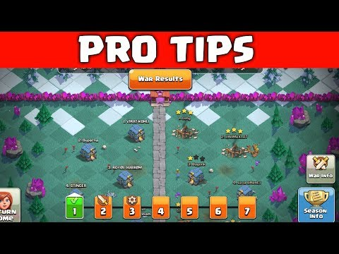 PRO TIPS FOR CLAN WAR LEAGUES, CLASH OF CLANS INDIA