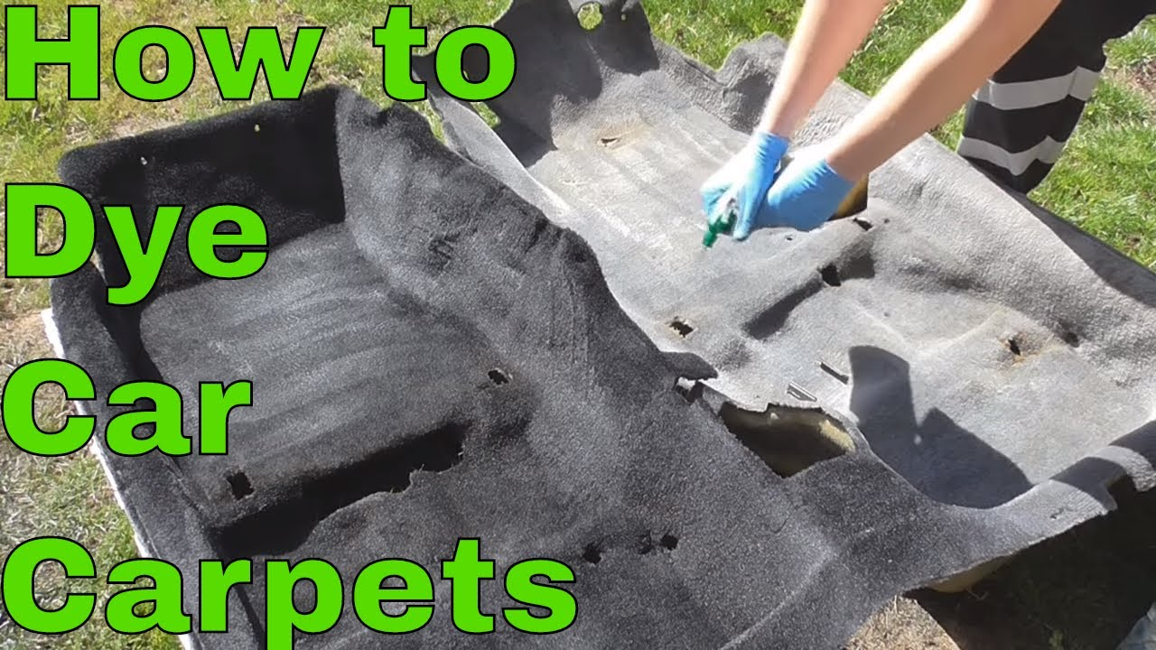 How to Dye Your Carpets Black! - YouTube
